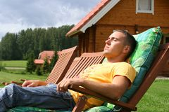 Guy Relaxing Royalty Free Stock Images