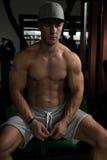Guy Resting In Healthy Club Gym Stock Photos