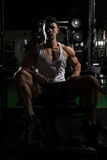 Guy Resting In Healthy Club Gym Royalty Free Stock Photos