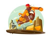 Guy riding skateboard in city Stock Image