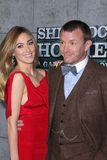 Guy Ritchie. Jacqui Ainsley and Guy Ritchie  at the Sherlock Holmes: A Game Of Shadows Los Angeles Premiere, Village Theatre, Westwood, CA 12-06-11 Royalty Free Stock Photography