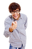 Guy roars with laughter Stock Images