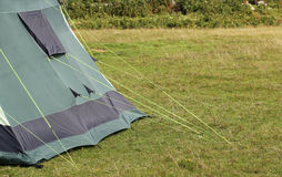 Guy ropes from a tent. Supporting the tent. Royalty Free Stock Photography