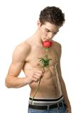 Guy with rose Royalty Free Stock Photo