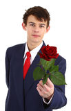 Guy with a rose Royalty Free Stock Photography