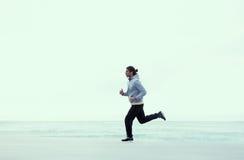 Guy runs on fresh air Royalty Free Stock Photo