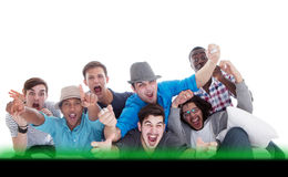 A guy's night out - screaming! Stock Images