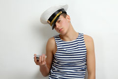 Guy sailor Stock Images