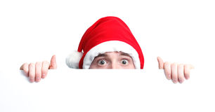 Guy with santa hat Stock Photography