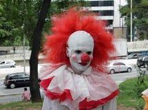Guy in scary clown costume in Zombie Walk Sao Paulo. Sao Paulo, Brazil November 2 2016: An unidentified man in scary clown costume in the annual event Zombie Royalty Free Stock Image