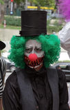 Guy in scary clown costume in Zombie Walk Sao Paulo Royalty Free Stock Photo