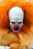Guy in scary clown costume in Zombie Walk Sao Paulo. Sao Paulo, Brazil November 2 2016: An unidentified man in scary clown costume in the annual event Zombie Royalty Free Stock Photos