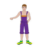 Guy in shorts Royalty Free Stock Images
