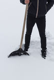 A guy with a shovel Royalty Free Stock Photography