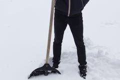 A guy with a shovel Royalty Free Stock Photos