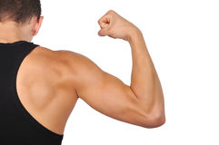 Guy showing muscles Stock Images