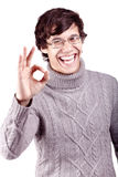 Guy showing okay sign Royalty Free Stock Image
