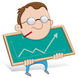 Guy showing statistics Stock Images