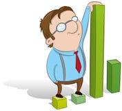 Guy showing statistics stock illustration