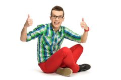 Guy showing thumbs up Stock Photo