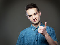 Guy showing thumbs up Stock Image