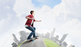 Guy on skateboard Stock Images