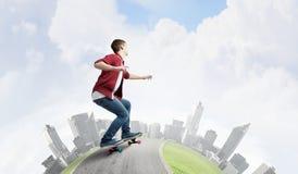 Guy on skateboard Stock Images