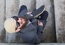 Guy with skateboard Royalty Free Stock Photo