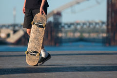 Guy with skateboard. Stock Photography