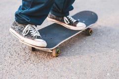 Guy on a skateboard Stock Photo