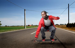 Guy skateboarding Royalty Free Stock Photos
