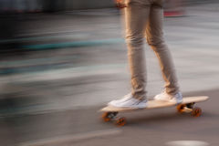 The guy skates Royalty Free Stock Photo