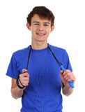 Guy with a skipping rope Royalty Free Stock Image