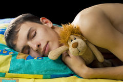 Guy sleeping Royalty Free Stock Image