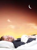 Guy sleeping Royalty Free Stock Image