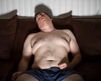 Guy sleeping hard Royalty Free Stock Images