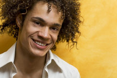 Guy smiling. Nice guy smiling royalty free stock photo