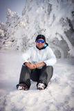 The guy on snow Stock Photo