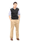 Guy standing with hands in his pockets Royalty Free Stock Photos