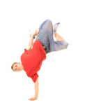 Guy standing on one hand Royalty Free Stock Photos