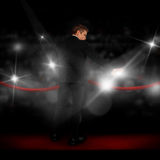 Guy in a suit on the red carpet Royalty Free Stock Photography