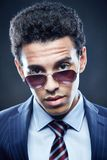 Guy in sunglasses Stock Images