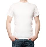 Guy in T-shirt Stock Images