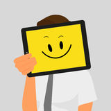 Guy with tablet pc Stock Photos