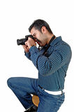 Guy taking pictures. Royalty Free Stock Images