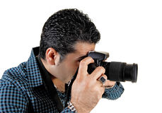 Guy taking pictures. Royalty Free Stock Photography