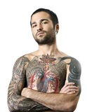 Guy with a tattoo Stock Images