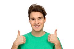 Guy With Thumbs Up Stock Photo