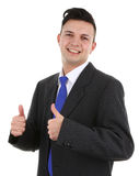 Guy with a thumbs up sign Stock Images