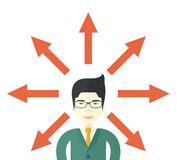 Guy with too many arrows Stock Photography